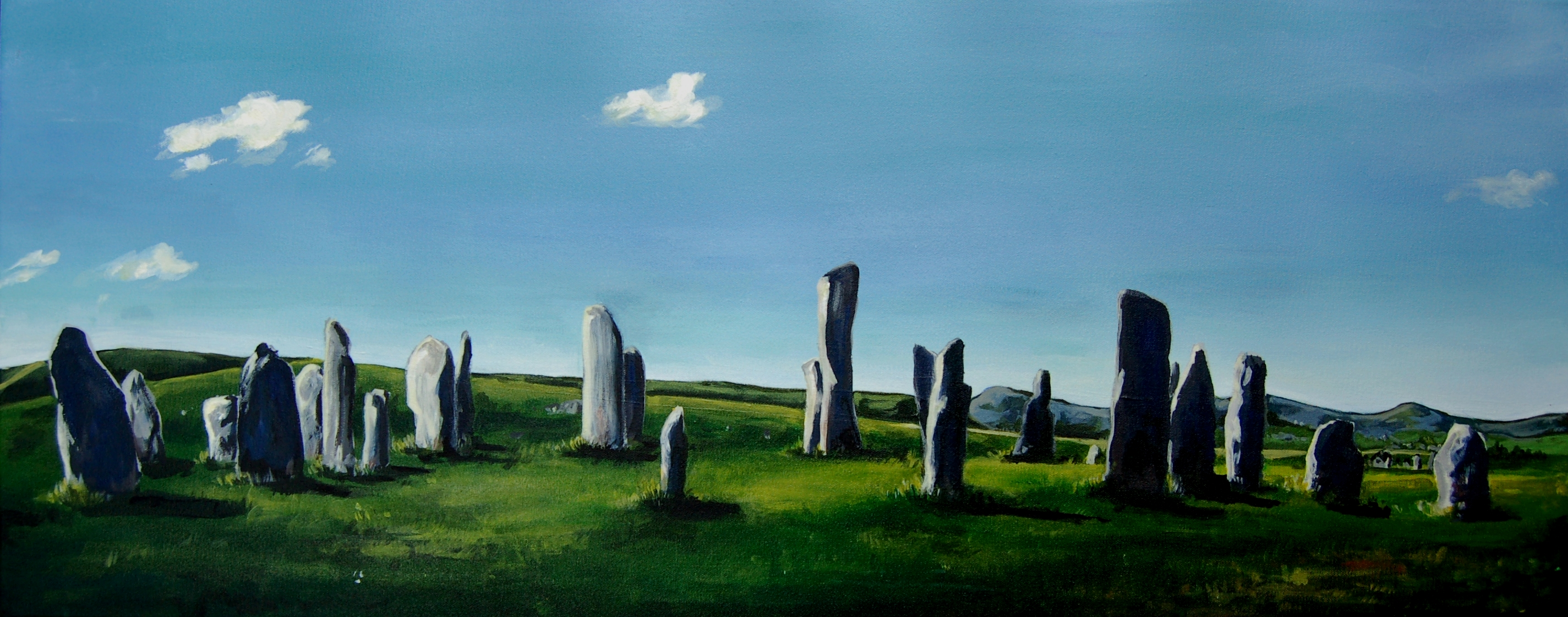 Callanish Stones<br> Tom Webster<br> Acrylic on Canvas